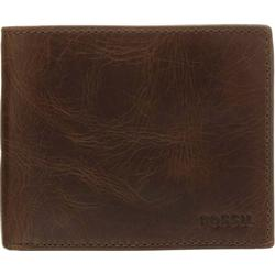 Fossil Derrick Geldbörse Leder 11,5 cm dark brown