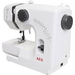 AEG Freiarmnähmaschine NM 100 kompakt Weiß, Grau