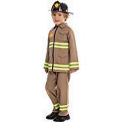 Dress Up America 845/T2 / Amerikanisches Feuerwehrkostüm, Größe 1/2 Jahre, mehrfarbig