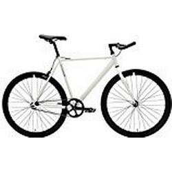 Critical Cycles 2168 Klassisches Eingangrad mit Starrgang und Pursuit Bullhorn Lenker / Weiß, 57 cm/Large