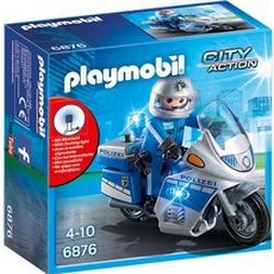 Playmobil® Motorradstreife mit LED-Blinklicht (6876), »City Action«