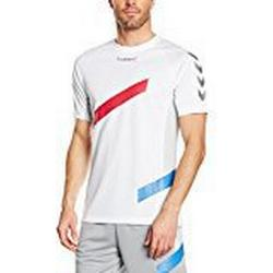 Hummel Herren Futures Short Sleeve Jersey Trikot, White, XL