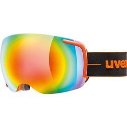 Uvex Big 40 FM Skibrille, Black/Green Mat, L