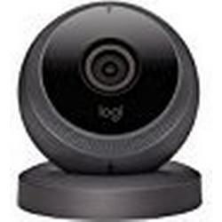 Logitech Circle, die batteriebetriebene kabellose Sicherheitskamera (mit 1080p/Videoqualität sowie Personenerkennung, Bewegungszonen und benutzerdefinierten Benachrichtigungen) schwarz