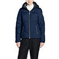 Killtec Damen Poppy Jacke in Daunenoptik mit Abzipbarer Kapuze und Schneefang, Dunkelblau/Schwarz, 36