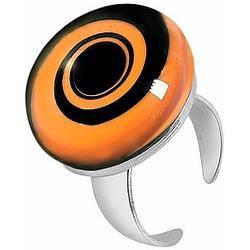 Größenverstellbarer Ring aus Silber und Muranoglas mit Spiraloptik