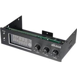 Akasa PC Lüftersteuerung 13,32 cm (5.25 Zoll) Anzahl Kanäle: 3 AK-FC-07BK inkl. Monitor und Alarm,