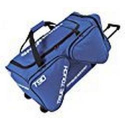 SHER/WOOD / Eishockeytasche T 90 True Touch mit Rollen I Tasche für Hockeyschläger I Hockey Bag aus Nylon I Transporttasche für Eishockeyausrüstung I für Eishockeyschläger I Blau / 116 Liter (S)