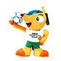Fuleco Fußball FIFA World Cup 2014 Brasil Plüsch mit Ball Gelb Gelb / Gelb 20 cm