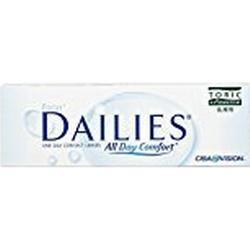 Focus Dailies Toric Torische Tageslinsen weich, 30 Stück / BC 8.6 mm / DIA 14.2 / CYL /1,50 / ACHSE 90 / +1,50 Dioptrien