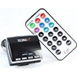 Technaxx FMT 100 FM Transmitter (LED Display, USB und Audioanschluss auch für iPod geeignet) schwarz