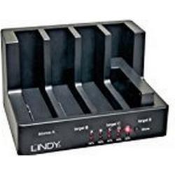 Lindy USB 3.0 & eSATA Docking & Clone Station Basic für 4 SATA Festplatten, 43114