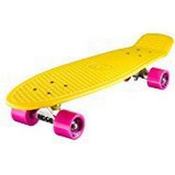 """Ridge 27"""" Big Brother Mini Cruiser Board 69cm Retro Skateboard, komplett, in gelb, völlig in der EU entworfen und hergestellt"""