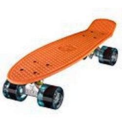"""Ridge 22"""" Mini Cruiser Board Retro Skateboard, komplett ausgerüstet, in orange, völlig in der EU entworfen und hergestellt"""