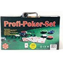 Philos 3757 / Pokerchips, Aluminiumkoffer, rot/blau/grün/schwarz/grau