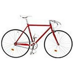 Critical Cycles Uni Classic Fixed/Gear Single/Speed Urban Road with Pista Drop Bars Bike, Purpur, 43 cm/X/Small