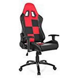 hjh OFFICE 729100 SUZUKA II Chefsessel Gaming chair, Lederimitat, schwarz / rot