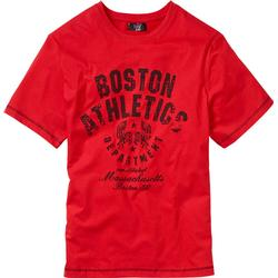 T-Shirt kurzer Arm  in rot (Rundhals) für Herren von bonprix