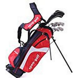 "SPEQ Golf ""Blau"" RH Junior Halb/Set mit Holz, Eisen, Wedge, Putter, Bag (Kids 1,30 / 1,45 m)"
