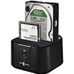"""Media Express USB 3.0/Dockingstation für Festplatten mit 2,5"""" und 3,5"""", Dual Easy Docking, Konverter für Festplatten, ohne Festplatten, Schwarz"""