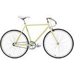 Critical Cycles Classic Fixed/Gear Single/Speed Urban Road with Pista Drop Bars Bike, Cremefarben, 49 cm, small