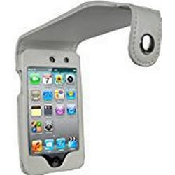 Igadgitz PU Leder Tasche Schutzhülle Etui Case Hülle in Weiß für Apple iPod Touch 4G 4. Gen Generation 8gb 32gb & 64gb + Gürtelbefestigung + Display Schutzfolie