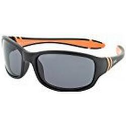 H.I.S Polarized Sonnenbrille Kids HP50102, schwarz / orange, graue Gläser, 1 Stück