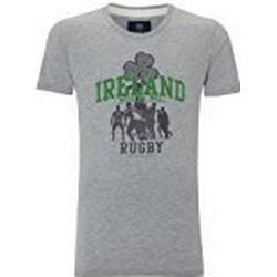 Front Up Rugby Herren Seite des Irland T/Shirt, grau meliert, Small