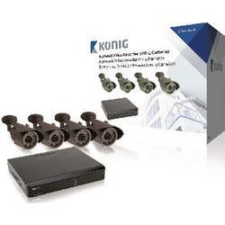 Koenig System Network Video Recorder Nvr 4 Cameras 5,66 Kg