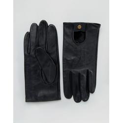 ASOS - Schwarze Lederhandschuhe für Autofahrer - Schwarz
