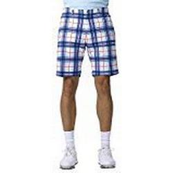 IJP Design Herren Golf Shorts mit Tartanmuster, Red, 30, SH32/128