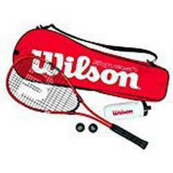 Wilson Squash/Set, Starter, Schläger, Bälle, Trinkflasche, Tasche, Damen/Herren, Starter Squash Kit, WRT913100, Rot/ Schwarz