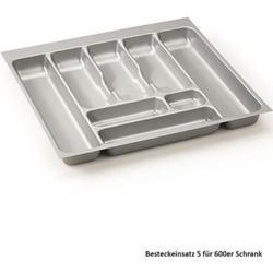 NABER Storex Besteckeinsatz 5 silbergrau 8034259 für 600er Schrank, B 510 mm