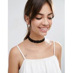ASOS - Basic - Halsband aus Spitze - Schwarz