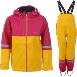 Didriksons Waterman Kids Rain Set Yellow/Fuchsia 70 cm