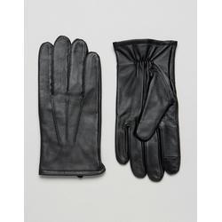 ASOS - Schwarze Lederhandschuhe mit Touchscreen - Schwarz