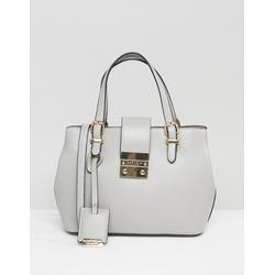 Carvela - Mandy - Handtasche mit kleinem Schloss - Grau