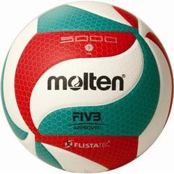 Molten Europe Volleyball Flistatec (Größe: 5, Farbe: 001 weiß/rot/grün)