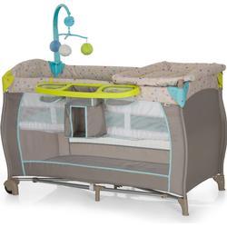 hauck Reisebett Babycenter Multi Dots sand