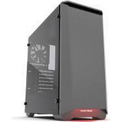 Phanteks Midi-Tower PC-Gehäuse P400S Schwarz/Weiß 2 vorinstallierte Lüfter, Für AIO Wasserkühlu