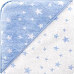 bellybutton Kapuzenhandtuch mit Sternen - stars light blue