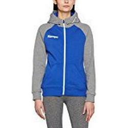 Kempa Damen Fly High Hood Jacket Women Jacke, Royal/Grau Melange, XL