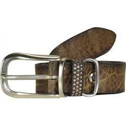 b.belt Gürtel Leder 85 cm grau taupe