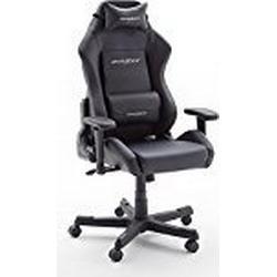 Robas Lund DX Racer 3 Gamingstuhl / Schreibtischstuhl / Bürostuhl, 74 x 117/127 x 50 cm, schwarz