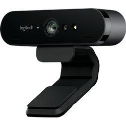 Logitech BRIO 4K-Webcam 4096 x 2160 Pixel Standfuß, Klemm-Halterung