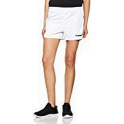 hummel Damen Auth Charge Poly Shorts, White, XL
