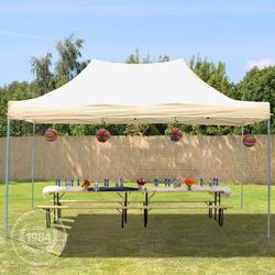 Faltpavillon 3x4,5m beige Klappzelt, Partyzelt, Gartenzelt, Faltzelt