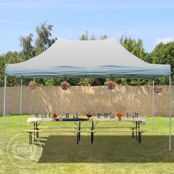 Faltpavillon 3x4,5m grau Klappzelt, Partyzelt, Gartenzelt, Faltzelt