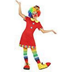 Atosa 22147 / Clownin, Mädchenkostüm, Größe 128