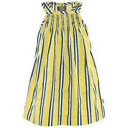 Candy organic baby dress yellow print